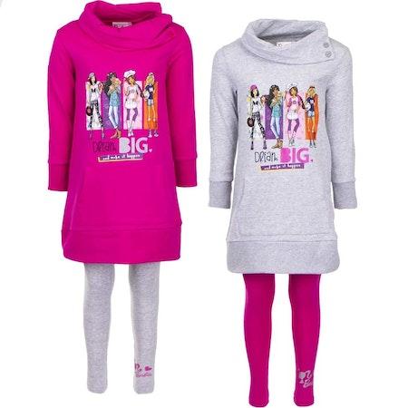 Barbie 2-delat set med tights och sweatshirt