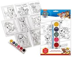 Paw Patrol måla & färglägg set