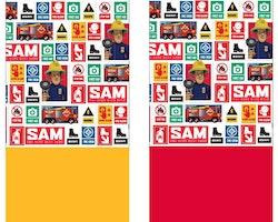 Brandman Sam halsskydd/Skarf/Baklava