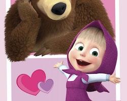 Masha & the bear flecce filt/pläd