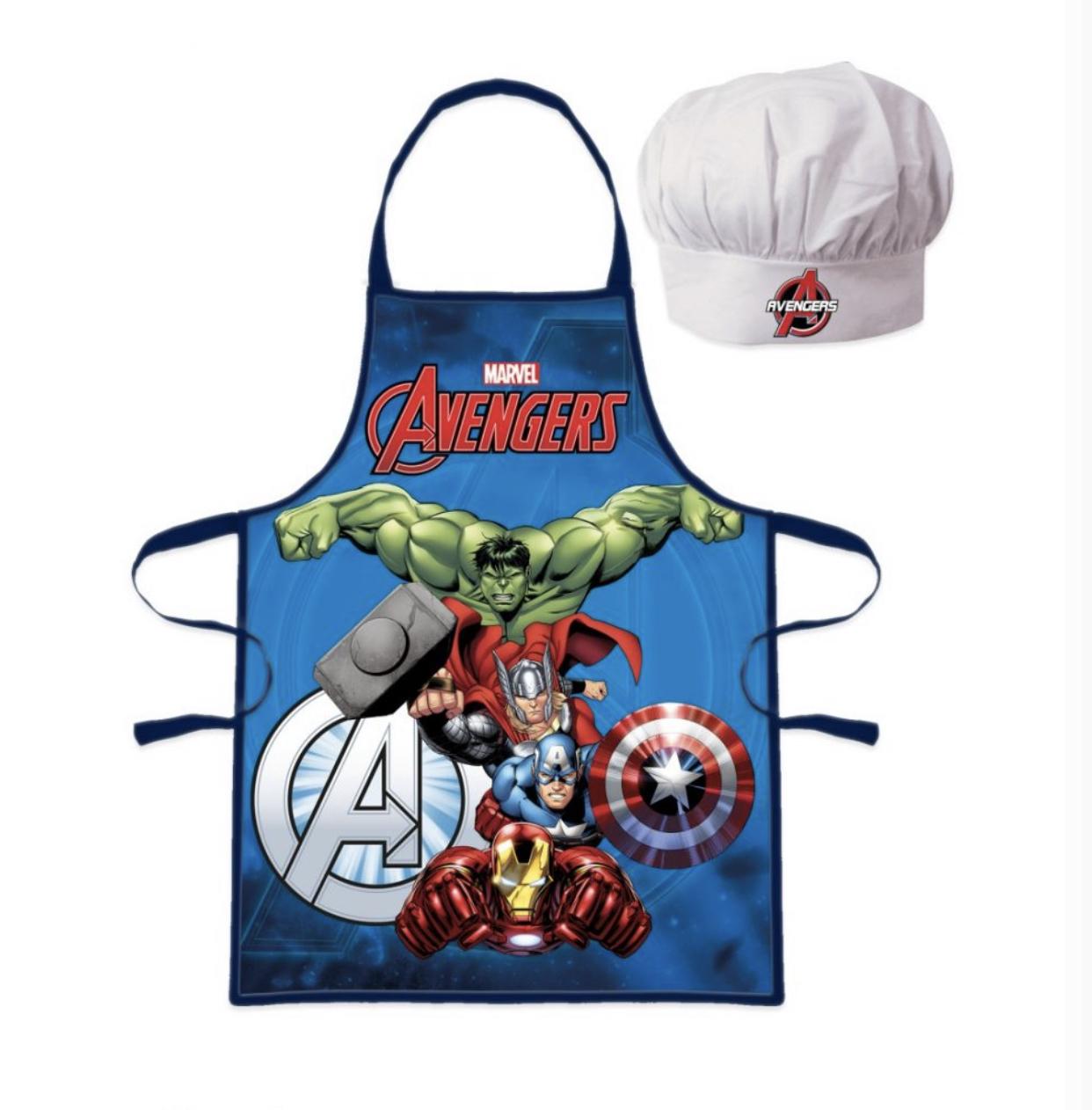 Avengers förkläde med kockmössa