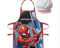 Spiderman förkläde med kockmössa