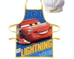 Cars förkläde med kockmössa