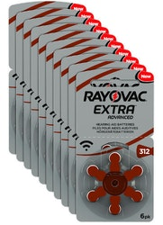 10 Pack Rayovac 312 BRUN