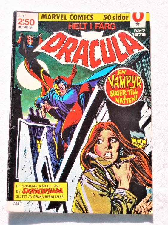 Dracula nr 7 1975 färg bättre skick