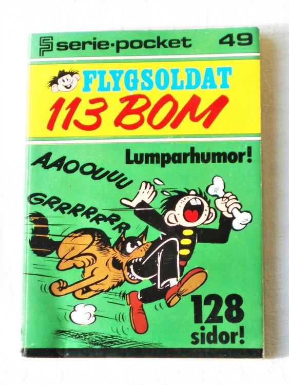 Flygsoldat 113 Bom Seriepocket nr 49 semic mycket bra skick nyskick.
