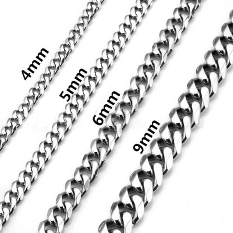 Pansarlänk i rostfritt stål. Halslänk B:0.4 mm.Längd:ca 53 cm
