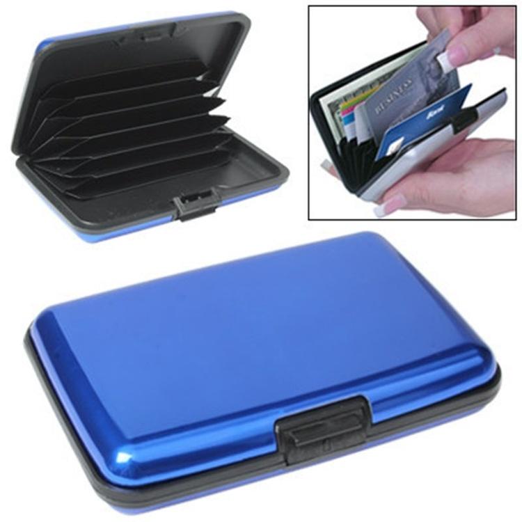 Blå korthållare,kreditkorts hållare-Aluminum Alloy.