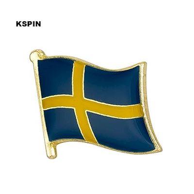 Sverige flaggpin Material: Metall 1.6 cm x 1.9 cm