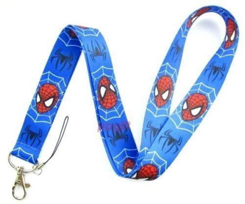 Spideman nyckelband med karbinhake - Metallfäste - Bredd: 2.5 cm