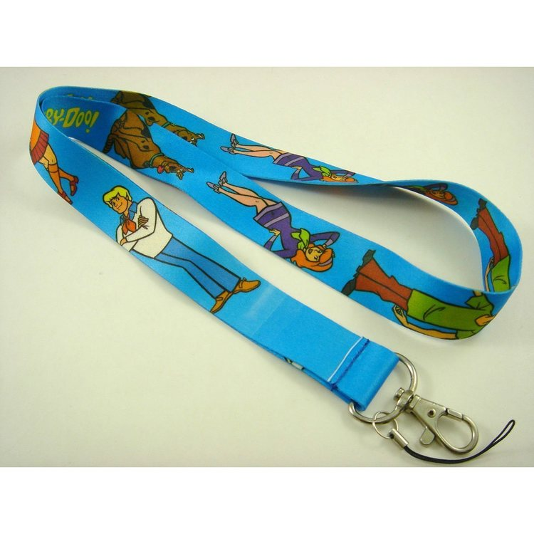 Scooby - Doo  nyckelband med karbinhake - Metallfäste - Bredd ca 2.5 cm