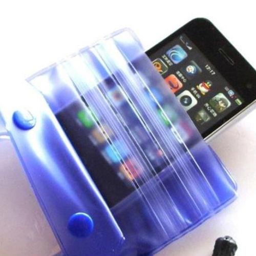 Mobiltelefon - Vattensäkert fodral - Universal - Blå - Material: Mjuk PVC