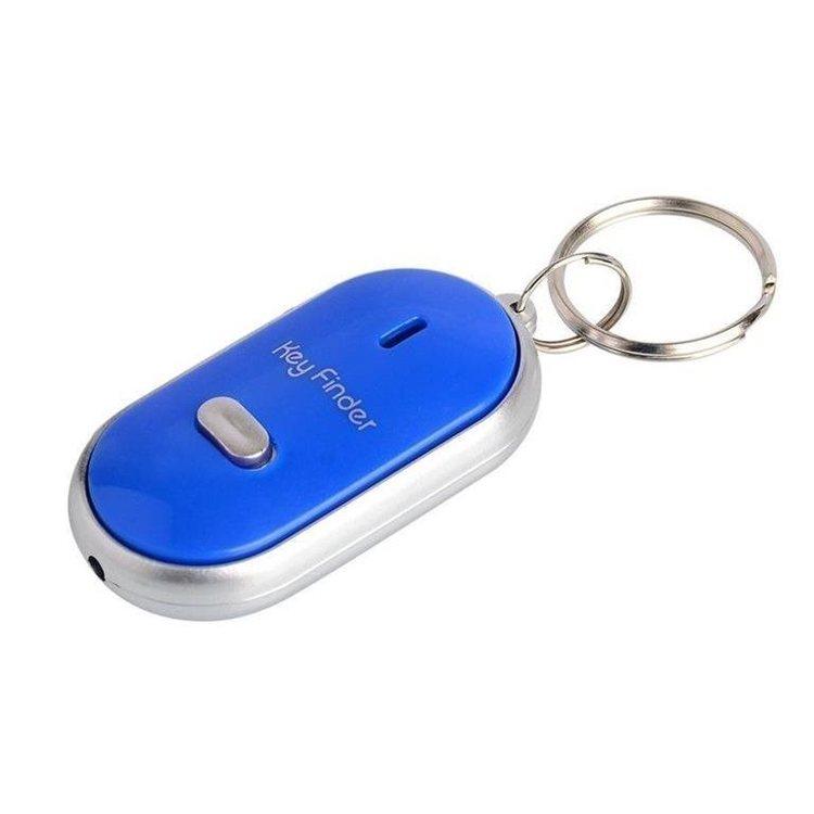 Key Finder-Nyckelring-Hitta Nycklarna-Vissla  Blå. Med On/Off aktivering