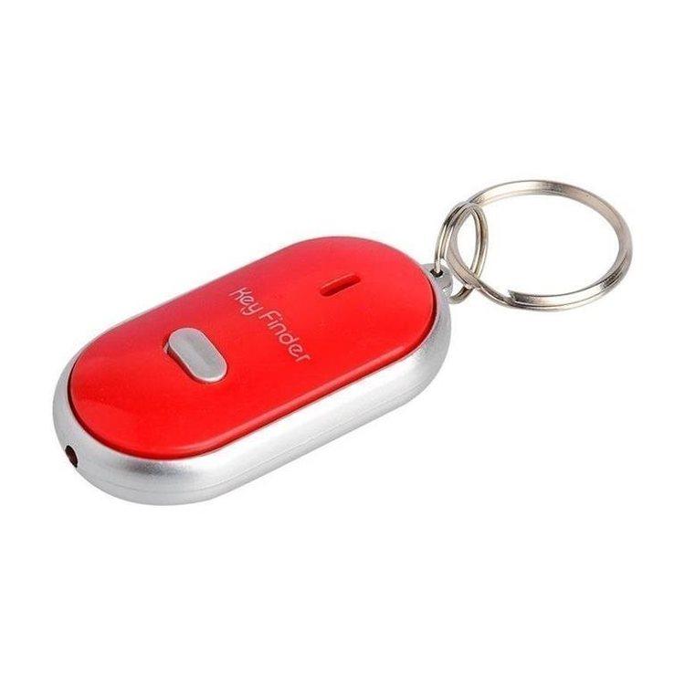 Key Finder-Nyckelring-Hitta Nycklarna-Vissla- Röd - Med On/Off aktivering