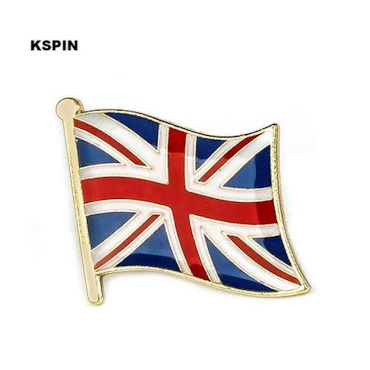 England flaggpin  Material: Metall Storlek: 1.6 cm x 1.9 cm
