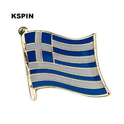 Grekland flaggpin  Material: Metall Storlek: 1.6 cm x 1.9 cm