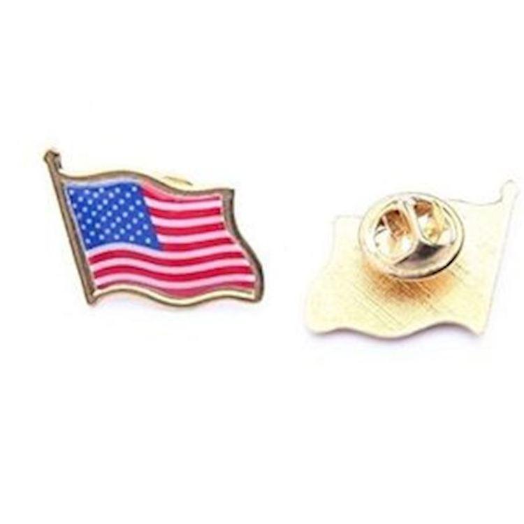 USA flaggpin  Material: Metall Storlek: 1.6 cm x 1.9 cm