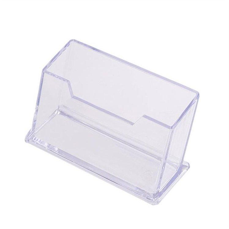 Visitkortshållare (Bord). Klar acrylic,mått: 10.1 cm x 5.1 cm x 4.5 cm