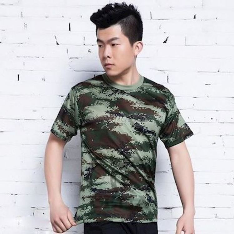Soldier Camouflage Tactical Military Short Sleeve T-Shirt Quick Dry Tee (L)