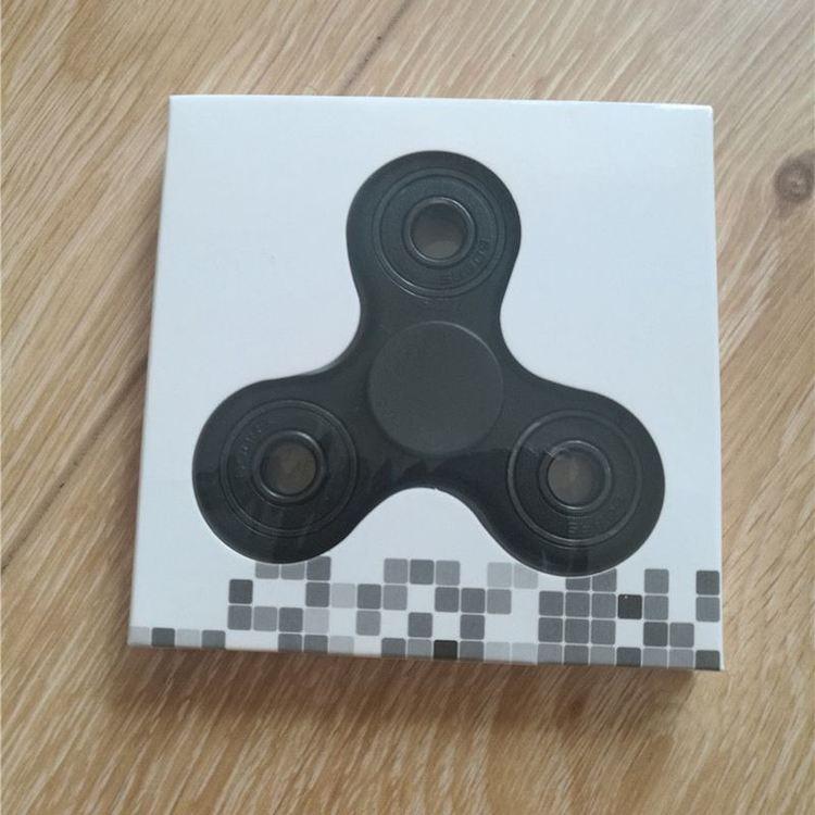 Fidget Hand Spinner - Tre - Svart. Batman Fingertoppsgyro. Leksak
