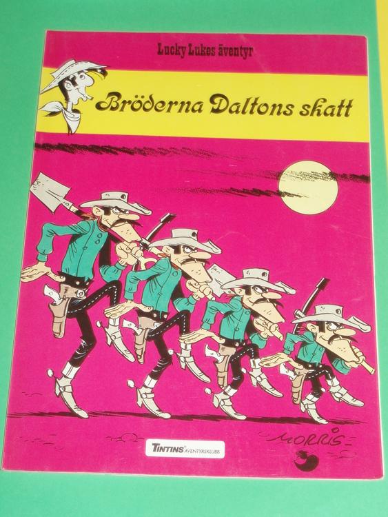 """Lucky Luke """" Bröderna Daltons skatt"""", bra skick, normalslitet. Äventyrsklubb"""