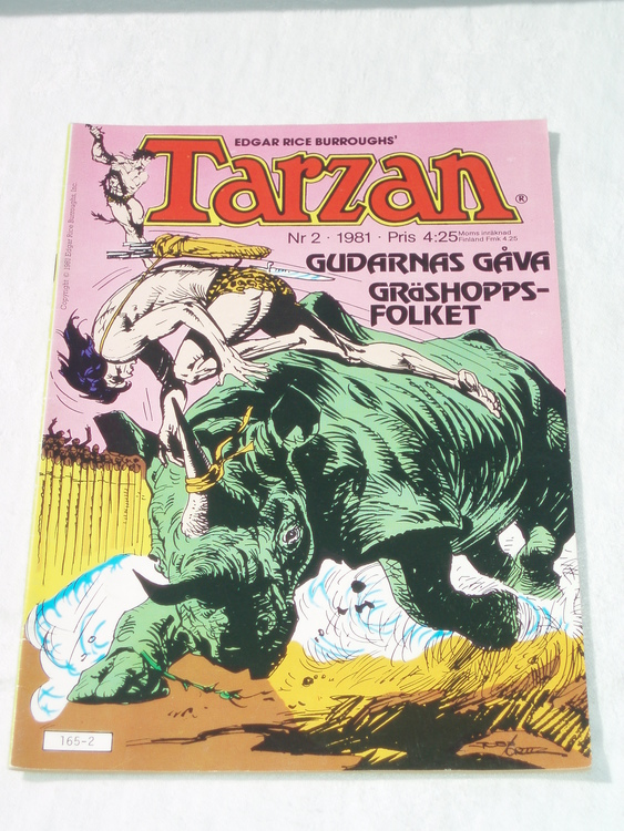 Tarzan nr 2, 1981 mycket bra skick