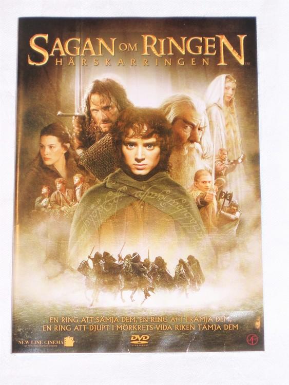 DVD Sagan om Ringen skiva&omslag svensk text,normalt begagnat skick.