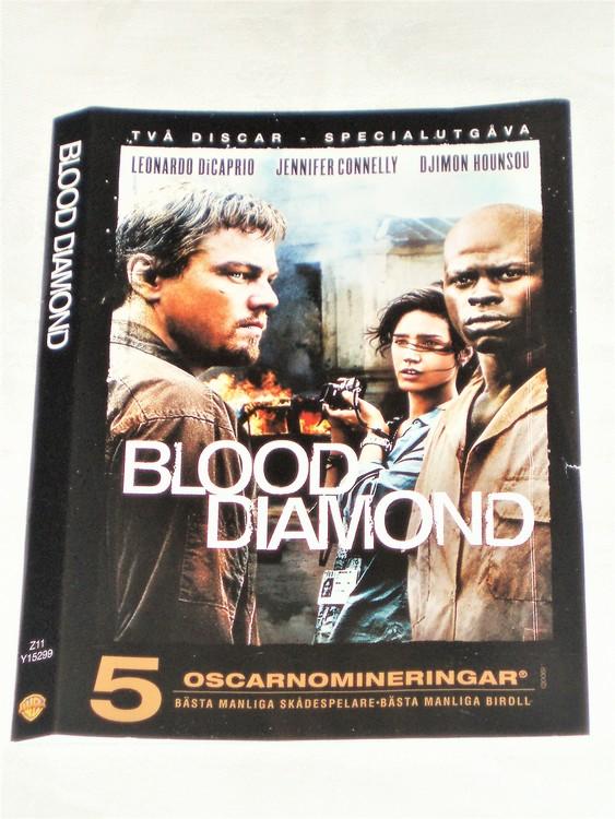 DVD Blood Diamond skiva och omslag svensk text,normalt begagnat skick.