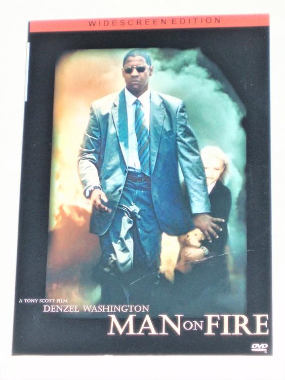 DVD Man on Fire skiva & omslag svensk text normalt begagnat skick.