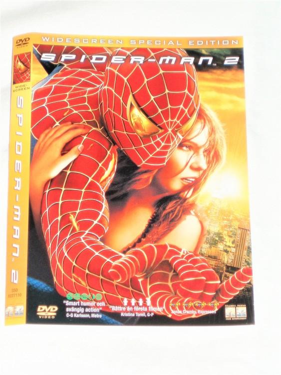 DVD Spiderman 2 skiva och omslag svensk text,normalt begagnat skick.