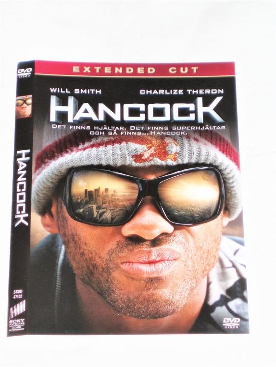 DVD Hancock skiva och omslag svensk text,normalt begagnat skick.