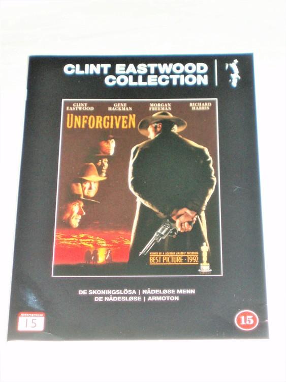 DVD Unforgiven skiva och omslag svensk text normalt begagnat skick.