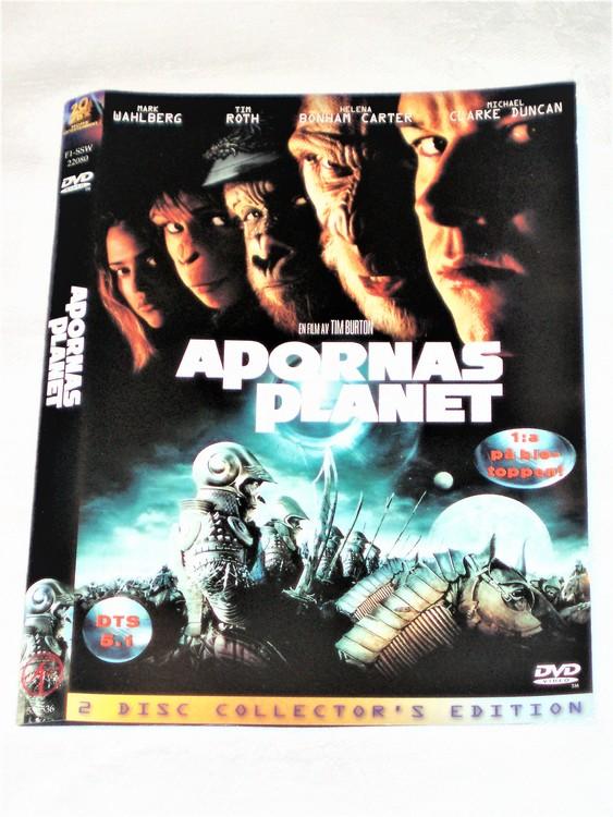 DVD Apornas Planet skiva och omslag svensk text,normalt begagnat skick.