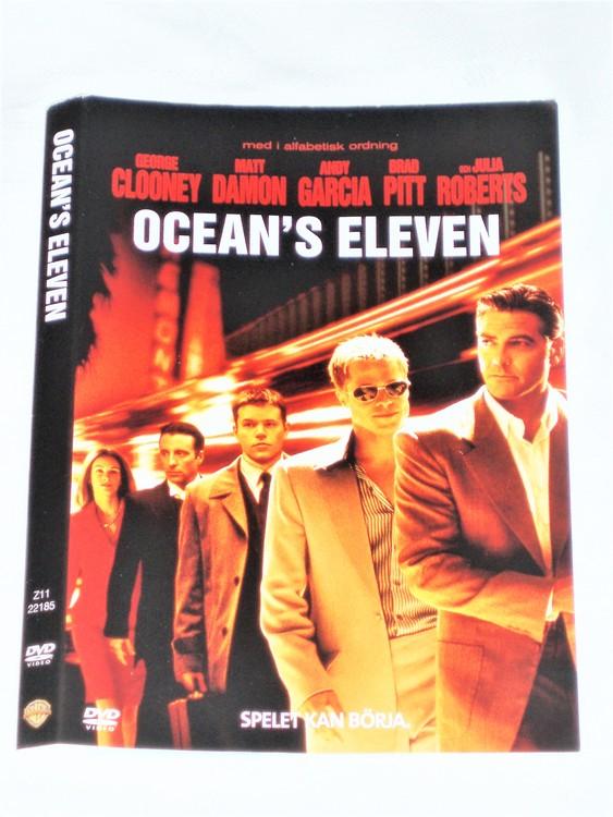 DVD Ocean´s Eleven skiva och omslag svensk text,normalt begagnat skick.