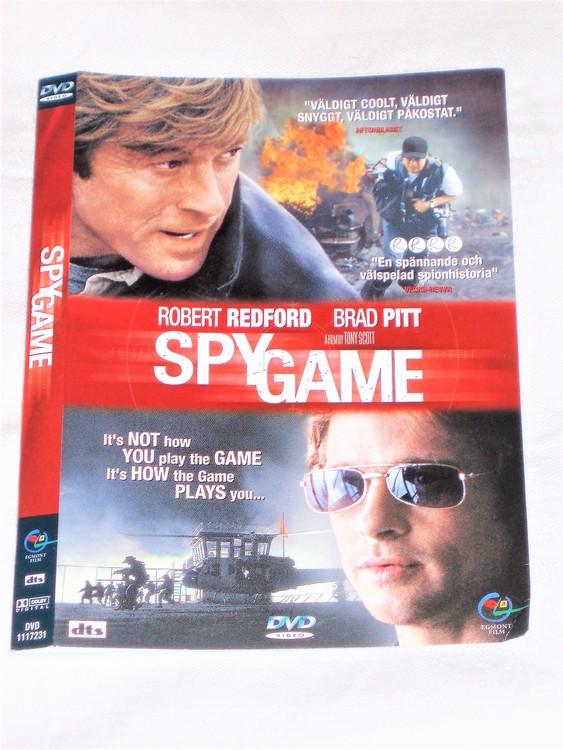 DVD Spy Game skiva och omslag svensk text,normalt begagnat skick.