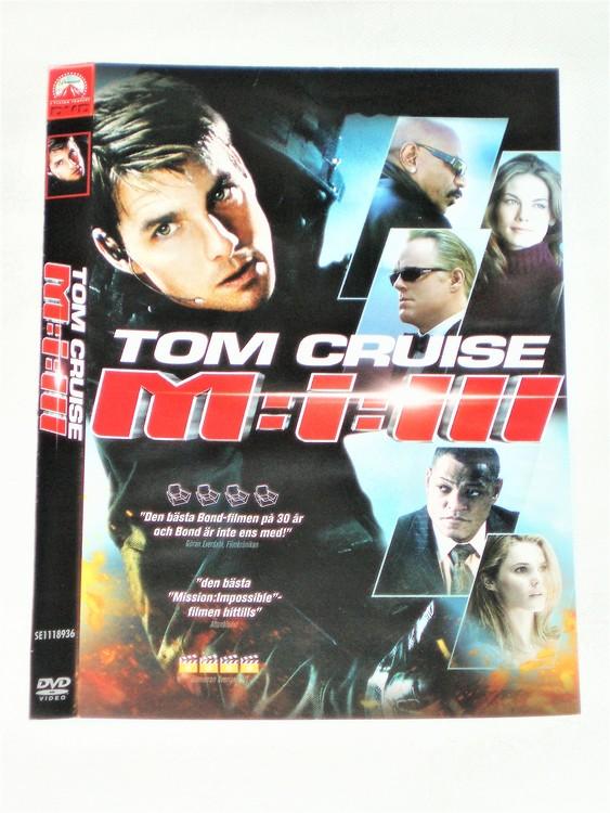 DVD M:I: III skiva och omslag svensk text,normalt begagnat skick.