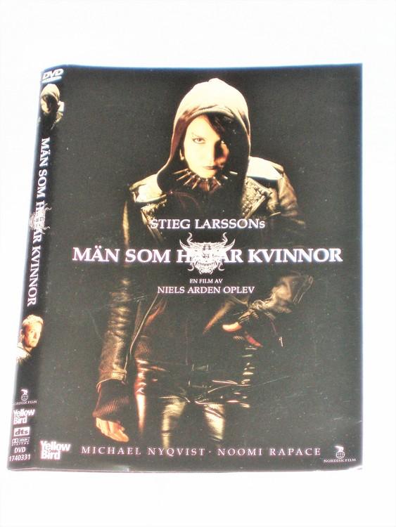 DVD Män som Hatar Kvinnor skiva och omslag svensk text,normalt begagnat skick.