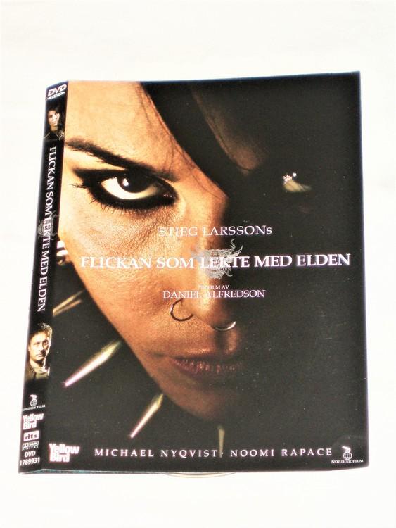 DVD Flickan som lekte med elden skiva+omslag svensk text,normalt begagnat skick.