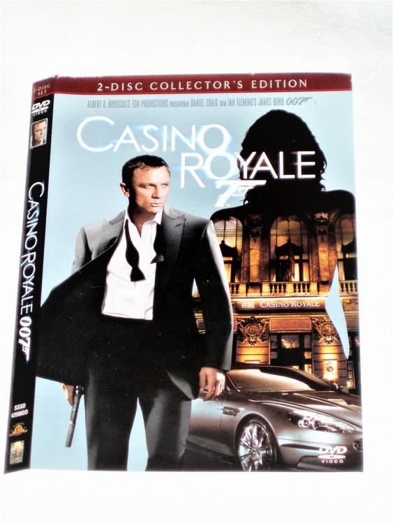 DVD Casino Royale skiva och omslag svensk text,normalt begagnat skick.