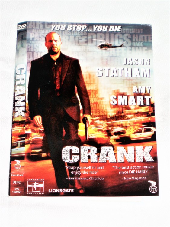 DVD Crank skiva och omslag svensk text,normalt begagnat skick.