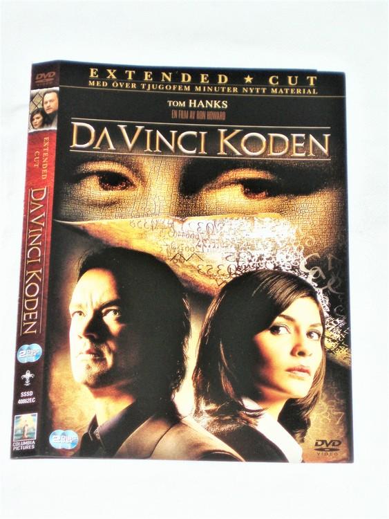 DVD Da Vinci Koden skiva och omslag svensk text,normalt begagnat skick.