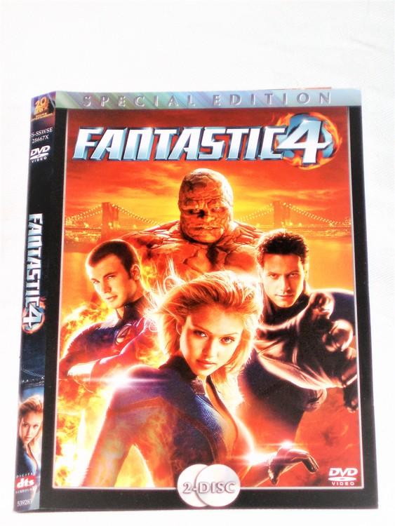 DVD Fantastic Four skiva och omslag svensk text,normalt begagnat skick.
