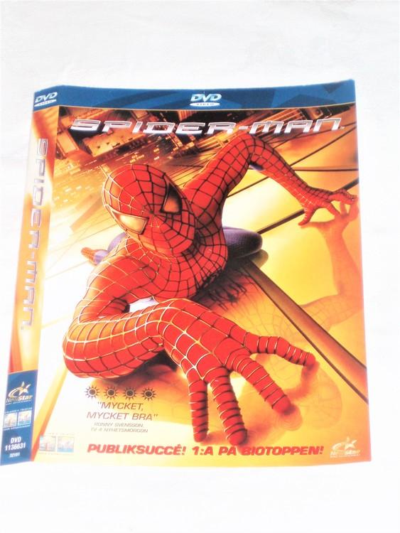 DVD Spiderman skiva och omslag svensk text,normalt begagnat skick.