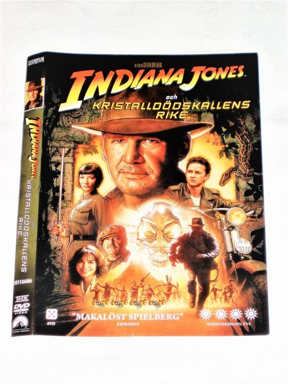 DVD Indiana Jones skiva och omslag svensk text,normalt begagnat skick.