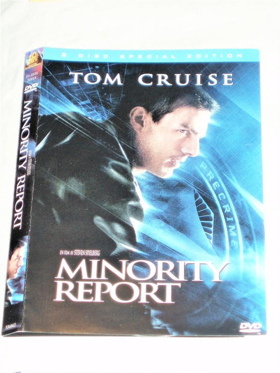 DVD Minority Report skiva och omslag svensk text,normalt begagnat skick.