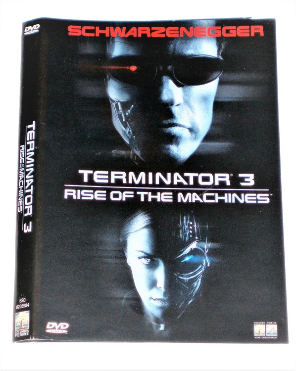DVD Terminator 3 skiva och omslag svensk text,normalt begagnat skick.