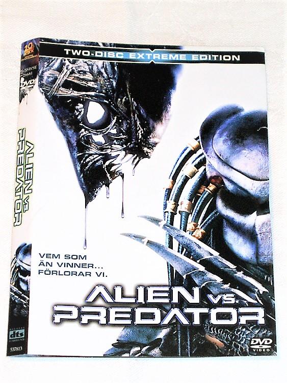 DVD Alien vs Predator skiva och omslag svensk text,normalt begagnat skick.
