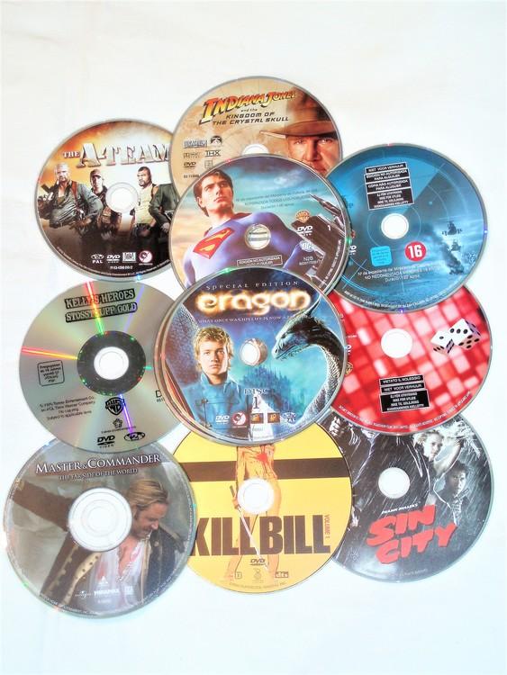 DVD Filmer 10st blandade skiva+omslag.Svensk text,normalt begagnat skick.