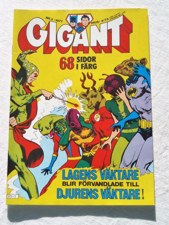 Gigant nr 3 1977,68 sidor NM Near mint,mycket bra skick,ny oläst,mikroskopiska skador