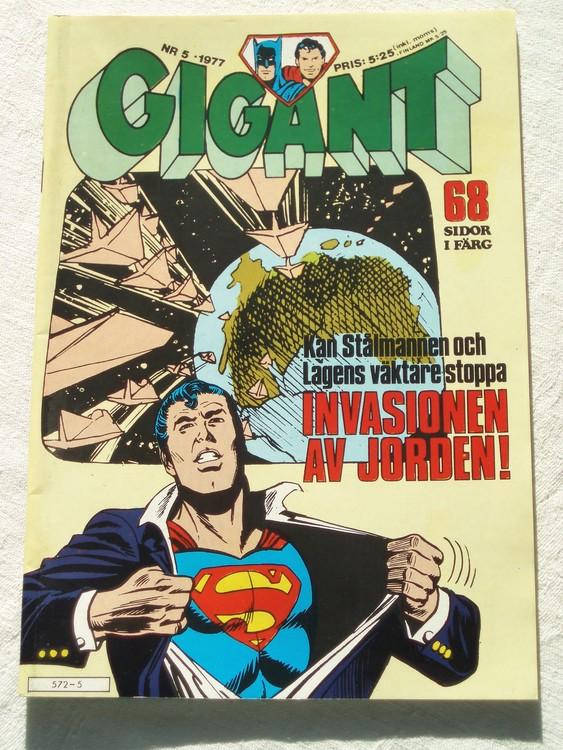 Gigant nr 5 1977,68 sidor NM Near mint,mycket bra skick,ny oläst,mikroskopiska skador